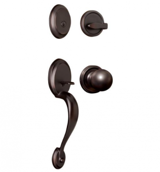 Weslock Oval Handleset with Barrington knob Oil Rubbed Bronze