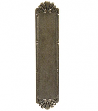 Emtek Lost Cast Bronze Petal Push Plate 86181