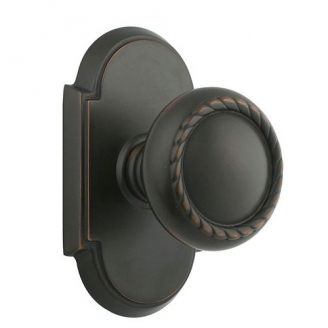 Emtek Rope Door knob with #8 Rose Oil Rubbed Bronze (US10B)