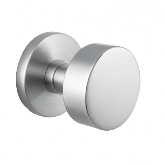 Emtek Stainless Steel Round Door Knob with Disk Rosette Stainless Steel