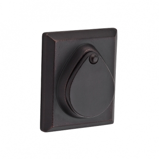 Baldwin Reserve Rustic Square Deadbolt (RSD) shown in Dark Bronze (481)