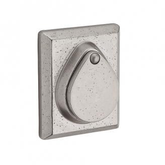Baldwin Reserve Rustic Square Deadbolt (RSD) shown in White Bronze (492)