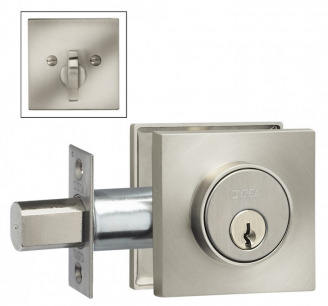 Omnia SQRDB Square Auxillary Deadbolt from the Prodigy Collection