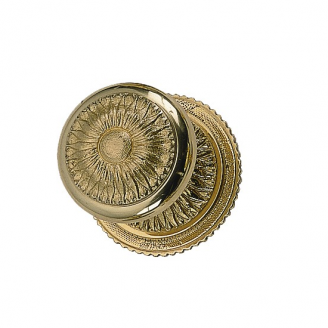 Brass Accents Sunburst Rosette with choice of knob or lever