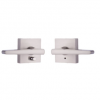 Weslock Transitional Collection 00710 Philtower Privacy Lever Set Satin Nickel