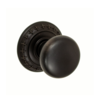 Fusion St. Charles Half Round Door Knob 01 with St. Charles Rose ORB
