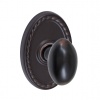 Fusion Egg Door Knob 02 with Oval Rope Rose Oil Rubbed Bronze (ORB)