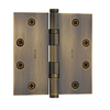 "Baldwin 1046 Solid Brass 4 1/2"" Ball Bearing Hinge Satin Brass and Black (050)"