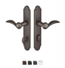 Emtek 1121 Configuration #1 SandCast Bronze ARCHED Style Multi-Point Trim for Pa