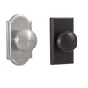 Weslock 1710I,3710I Impresa Privacy Door Knob with Premiere and Woodward Rose