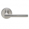 Omnia 43 Stainless Steel Door Lever Latchset Brushed Stainless Steel (US32D)
