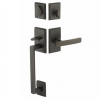 Emtek 451421 Sandcast Bronze Rustic Modern Rectangular Handleset in Medium Bronze