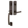 Emtek 451822 Logan Handleset with Yuma Lever Medium Bronze Patina (MB)