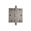 "Grandeur 808989 3.5"" Ball Tip Hinge with Square Corners Antique Pewter"