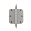 "Grandeur 812196 3.5"" Steeple Tip Hinge with 5/8"" Radius Corners Satin Nickel"