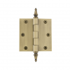 "Grandeur 3.5"" 812200 Brass Steeple Tip Hinge with Square Corners Vintage Brass"