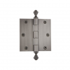 "Grandeur 833050 3.5"" Acorn Tip Hinge with Square Corners Antique Pewter"