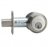 Omnia D9002 Modern Stainless Steel Auxiliary Deadbolt Brushed Stainless Steel (U