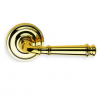 Omnia 904 Lever Latchset Polished Brass (US3)