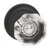 Omnia 955TD-10B Glass Door Knob Set with Traditional Rose