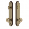 Grandeur Arc Tall Plate Entrance Set with Choice of Knob or Lever Vintage Brass