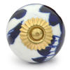 PotteryVille Blue design with White Cabinet knob