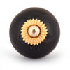 PotteryVille Black Colored Cabinet knob