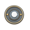 Baldwin 4850 Beaded Bell Button in Satin Brass & Black (050)