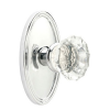 Emtek Astoria Clear Door knob with Oval Rose Polished Chrome (US26)