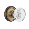 Nostalgic Warehouse Crystal Meadows Knob Set with Classic Rose Antique Brass