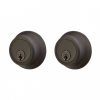 Emtek 8350-BZ Bronze Regular Style Double Cylinder Deadbolt Medium Bronze Patina