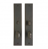 "Rocky Mountain 2-1/2"" x 13"" Rectangular Escutcheon shown with Egg Knob"