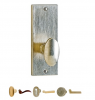 Rocky Mountain EB25 Escutcheon shown with the KB40 Small Squash Knob