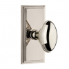 Grandeur Eden Prairie Door Knob Set with Carre Short Plate Polished Nickel