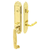 Emtek 4711 Ribbon and Reed with Ribbon and Reed Lever Polished Brass (US3)