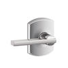 Schlage F10LAT625GRW Latitude Passage Door Lever Set with Greenwich Rose