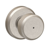 Schlage F40BWE619GSN Bowery Privacy Door Knob Set with Greyson Rose Satin Nickel