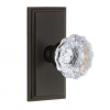 Grandeur Fontainebleau Door Knob Set with Carre Short Plate Timeless Bronze