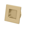 Deltana FPS234 Solid Brass Heavy Duty Square Flush Pull Brushed Brass