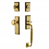 "Grandeur Fifth Avenue Handleset with ""F"" Grip Lifetime Brass"