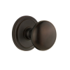 Grandeur Fifth Avenue Knob with Circulaire Rose Timeless Bronze
