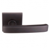 Emtek Geneva Door Lever Set with Square Rosette Oil Rubbed Bronze