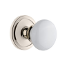 Grandeur Hyde Park Knob with Circulaire Rose Polished Nickel