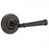 Emtek Merrimack Door Lever Set with Regular Rose Oil Rubbed Bronze