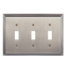 Brass Accents M02-S2550-609 Classic Steps Triple Switch Plate