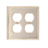 Brass Accents M05-S7560-605 Egg & Dart Double Outlet Plate