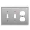 Brass Accents M05-S7580-619 Egg & Dart Triple-Double Switch and Single Outlet
