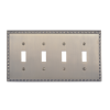 Brass Accents M05-S7591-609 Egg & Dart Quad Switch Plate