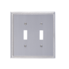 Brass Accents M06-S8530-619 Georgian Double Switch Plate