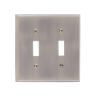 Brass Accents M07-S4530-609 Quaker Double Switch Plate